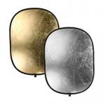 Фото - Bowens Отражатель золото/серебро BOWENS OVAL REFLECTOR PANEL (122x92cm) GOLD/SILVER (BW-3265)