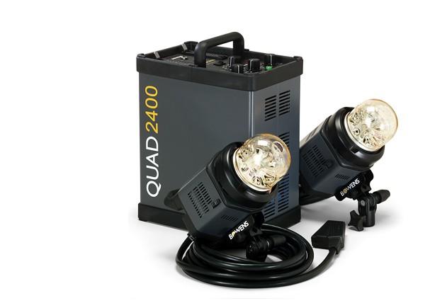 Купить - Bowens Генератор BOWENS QUAD 2400 STUDIO SET комплект с 2-мя генераторными головами (BW-7720)