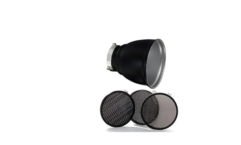 """Купить - Bowens Рефлектор BOWENS GRID 60° REFLECTOR 18 см в комплекте с тремя сотами (1/8"""" 3/16"""" 1/4"""") (BW-1865)"""