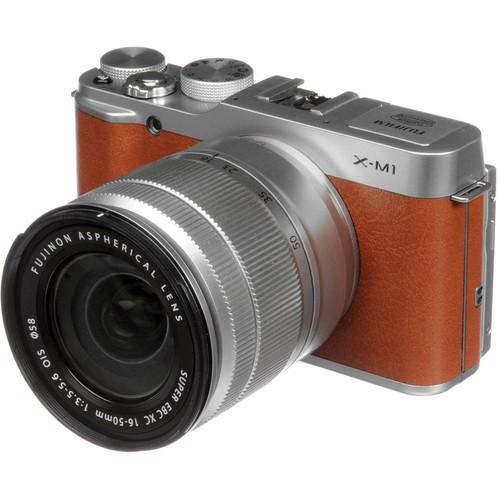 Купить - Fujifilm Fujifilm X-M1 kit XC 16-50 OIS (Brown)