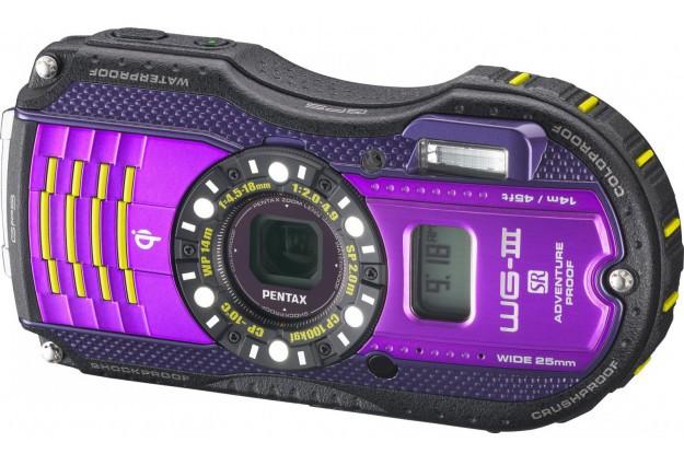 Купить -  Pentax Optio WG-3 GPS Black-Viol Kit (Официальная гарантия)+ в подарок (карта 8 ГБ, чехол, штатив, непотоп. ремешок)