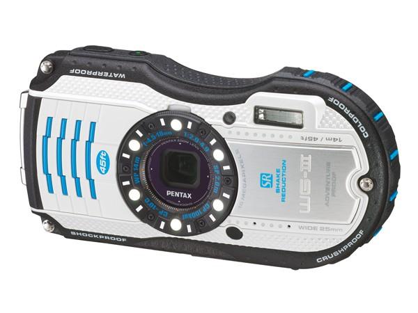 Купить -  Pentax Optio WG-3 White-Blue kit (Официальная гарантия)+ в подарок (карта 8 ГБ, чехол, штатив, непотоп. ремешок)