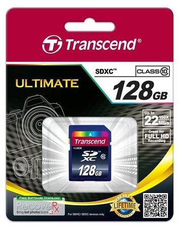 Купить -  Карта памяти Transcend SDXC 128GB Class 10 R25MB/s(TS128GSDXC10)