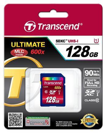 Купить -  Карта памяти Transcend Ultimate SDXC 128GB Class 10 UHS-I R90MB/s(TS128GSDXC10U1)