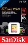 Фото -  Карта памяти SanDisk Extreme Plus 32GB SDHC Class 10 UHS-I 80MB/s(SDSDXS-032G-X46)