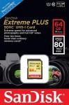 Фото -  Карта памяти SanDisk Extreme Plus 64GB SDXC Class 10 UHS-I 80MB/s(SDSDXS-064G-X46)