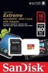 Фото -  Карта памяти SanDisk Extreme Plus microSDHC 16GB Class 10 UHS-I 80MB/s(SDSDQX-016G-U46A)