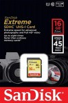 Фото -  Карта памяти SanDisk Extreme SDHC 16GB Class 10 R45/W45MB/s(SDSDX-016G-X46)