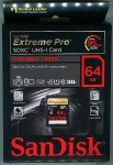 Фото - SanDisk Карта памяти SanDisk 64GB SDXC V30 UHS-I U3 R95/W90MB/s 4K Extreme Pro (SDSDXXG-064G-GN4IN)