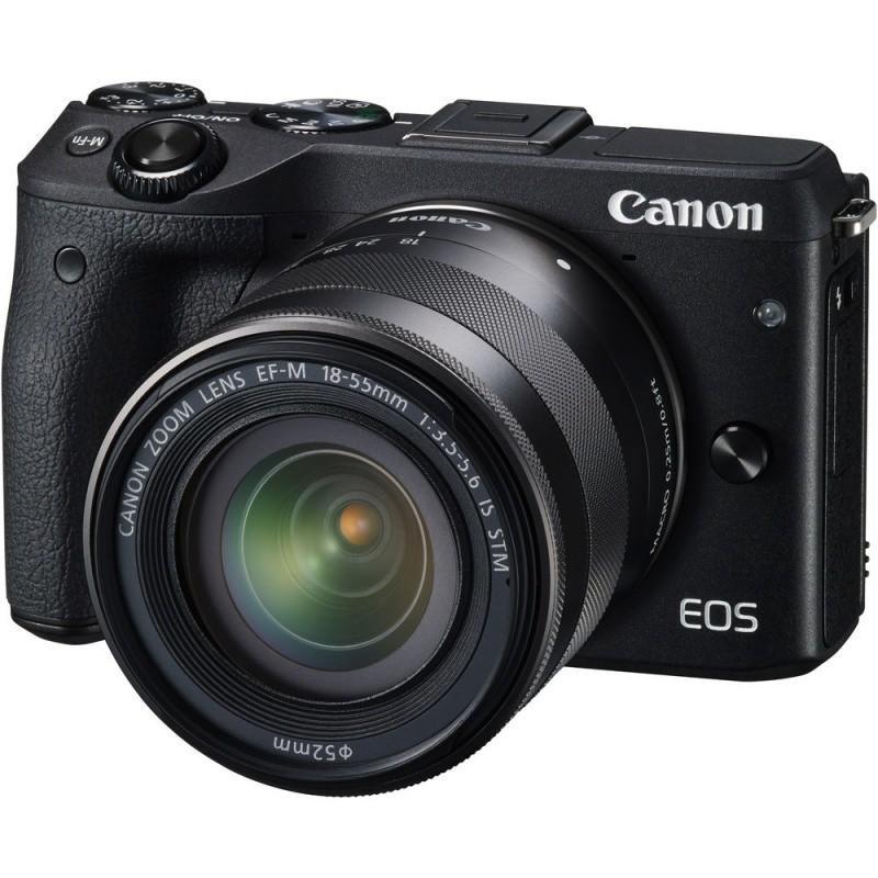 Купить - Canon Canon EOS M3 + EF-M 18-55 IS STM Bk (Официальная гарантия)