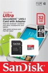 Фото -  Карта памяти SanDisk Ultra 32GB microSDHC Class 10 UHS-I 48MB/s Android (SDSQUNB-032G-GN3MA)