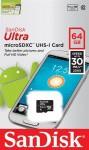 Фото -  Карта памяти SanDisk Ultra 64GB microSDXC Class 10 UHS-I 30MB/s (SDSDQL-064G-G35)