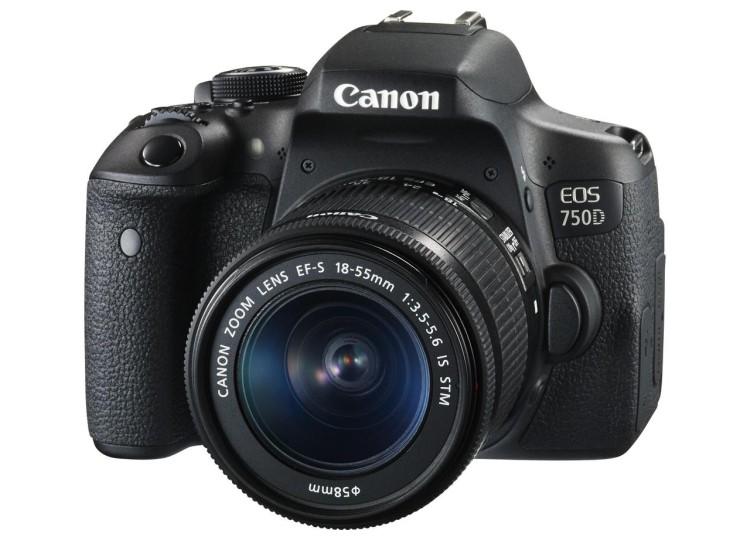 Купить - Canon Canon EOS 750D + объектив 18-55mm f/3.5-5.6 IS STM (Официальная гарантия)