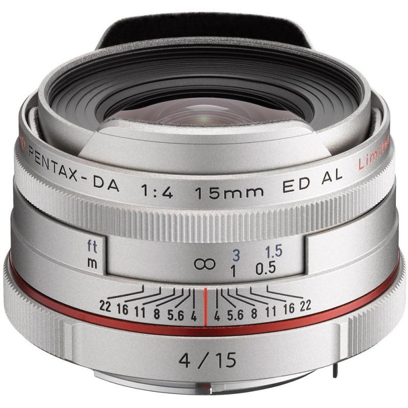 Купить - Pentax Pentax HD DA 15mm f/4 AL Limited Silver (Официальная гарантия)