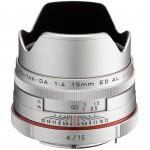 Фото Pentax Pentax HD DA 15mm f/4 AL Limited Silver (Официальная гарантия)