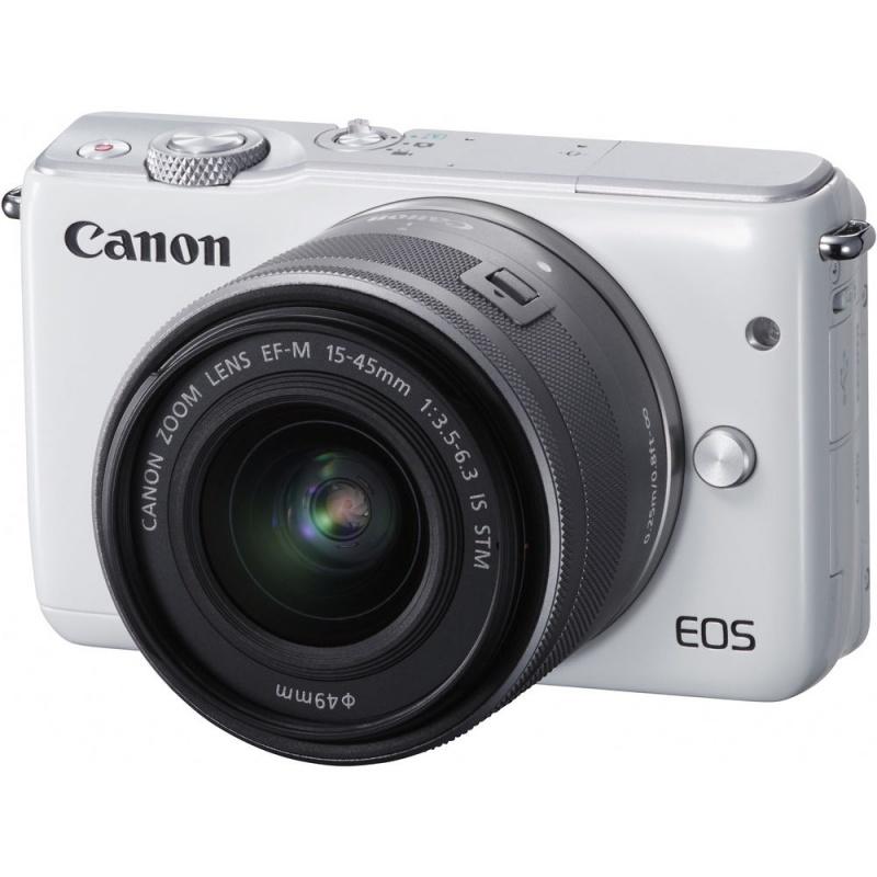 Купить - Canon Canon EOS M10 + EF-M 15-45mm f/3.5-6.3 IS (Kit) White