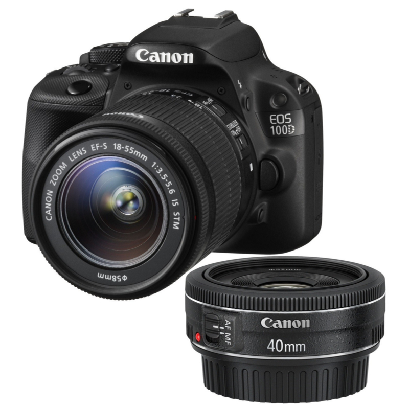 Купить - Canon Canon EOS 100D + объектив 18-55 IS + объектив 40mm STM (8576B057)