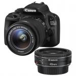 Фото - Canon Canon EOS 100D + объектив 18-55 IS + объектив 40mm STM (8576B057)