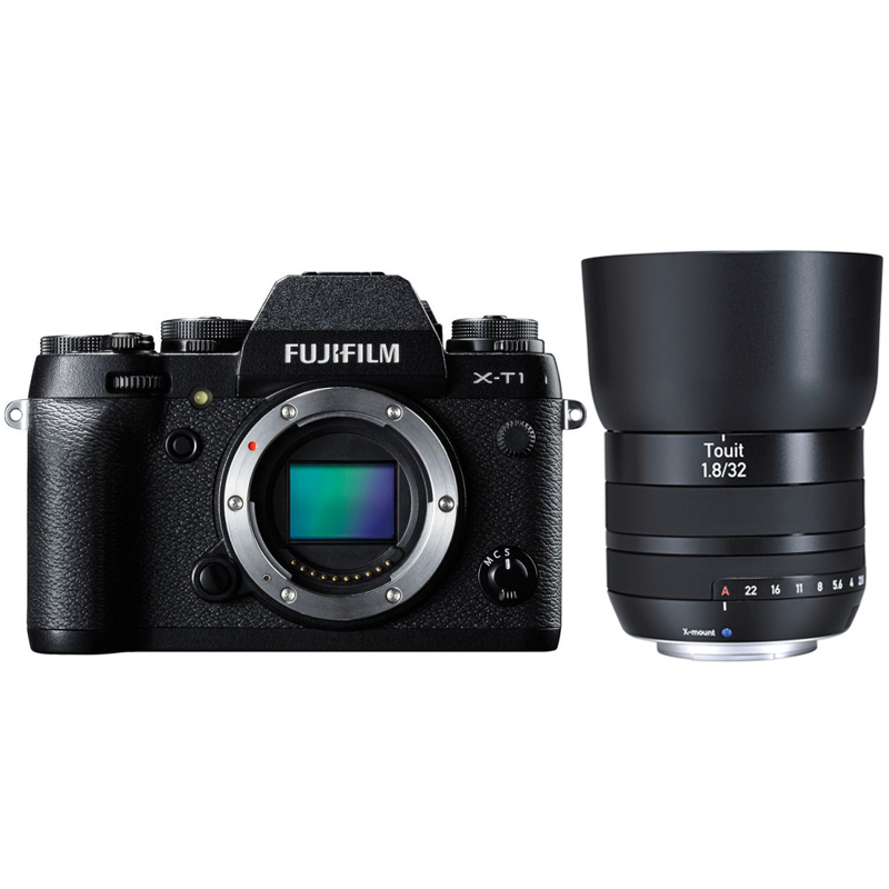 Купить - Fujifilm Fujifilm X-T1 body Black + объектив ZEISS  Touit 1,8/32 X