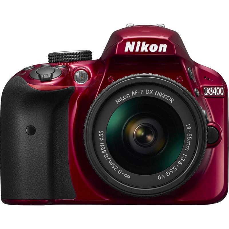 Купить - Nikon Nikon D3400 + AF-P 18-55VR KIT Red