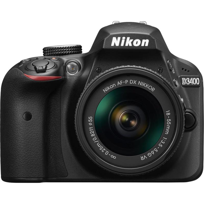 Купить - Nikon Nikon D3400 + AF-P 18-55VR KIT Black (VBA490K001)