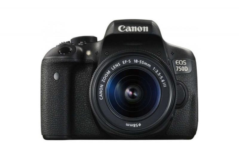 Купить - Canon Canon EOS 750D + объектив 18-55mm f/3.5-5.6 DCIII (Официальная гарантия)
