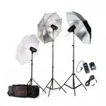 Фото -  Набор 'MiniMaster' 150 (вспышки-3, стойки-3, зонт-3, радио-1, сумка-1)