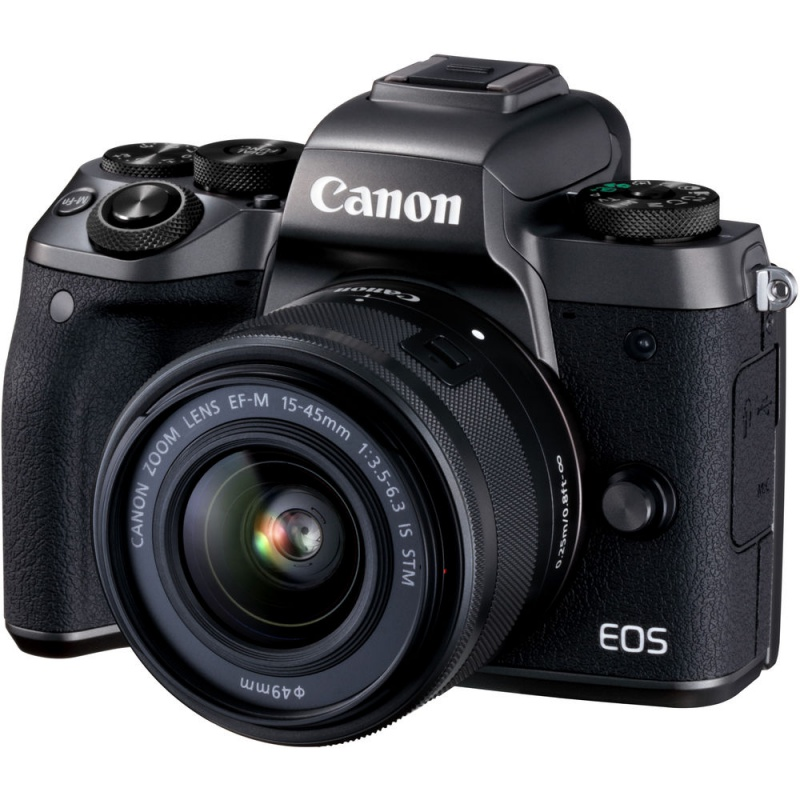 Купить - Canon Canon EOS M5 Kit  EF-M 15-45 IS STM Black + переходник EOS M – EOS EF  + Ваучер в Irista 50GB