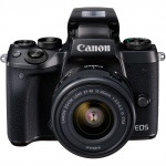 Фото Canon Canon EOS M5 Kit  EF-M 15-45 IS STM Black + переходник EOS M – EOS EF  + Ваучер в Irista 50GB
