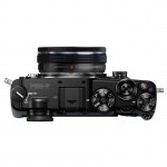 Фото Olympus Olympus PEN-F Pancake Zoom 14-42 Kit black/black (V204061BE000)