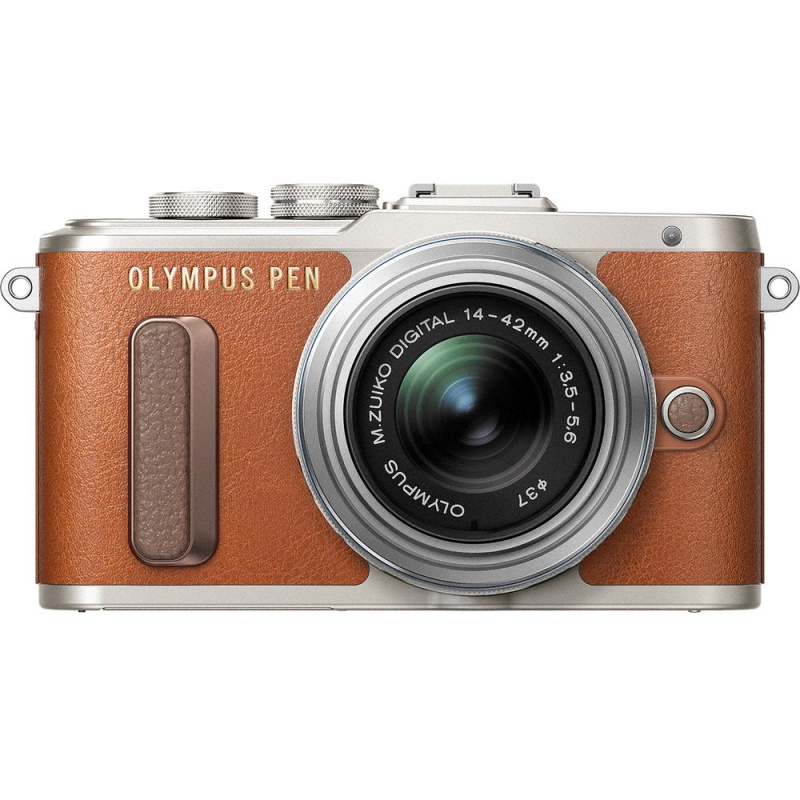Купить - Olympus OLYMPUS E-PL8 14-42 mm Pancake Zoom Kit brown/silver