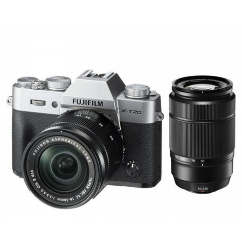 Купить - Fujifilm Fujifilm X-T20 + XC 16-50 + 50-230mm Kit Silver (16543200)