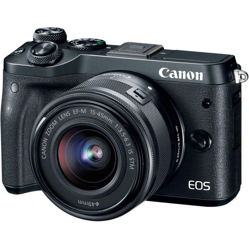 Купить - Canon Canon EOS M6 Kit 15-45 IS STM Black (1724C046)
