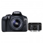 Фото - Canon Canon EOS-1300D 18-55+50 1,8 STM RUK (1160C083AA) + Ваучер в Irista 50GB