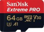 Фото - SanDisk Карта памяти SanDisk 64GB microSDXC V30 A1 UHS-I U3 R100/90MB/s 4K Extreme Pro + SD (SDSQXCG-064G-GN6MA)
