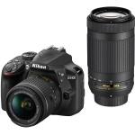 Фото - Nikon Nikon D3400 + AF-P 18-55 VR + AF-P 70-300 (VBA490K005)