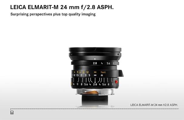 Купить -  LEICA ELMARIT-M 24 mm f/2.8 ASPH.