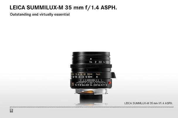 Купить -  LEICA SUMMILUX-M 35 mm f/1.4 ASPH.