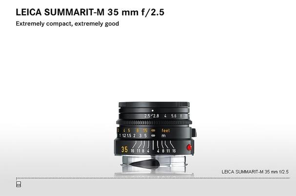 Купить -  LEICA SUMMARIT-M 35 mm f/2.5