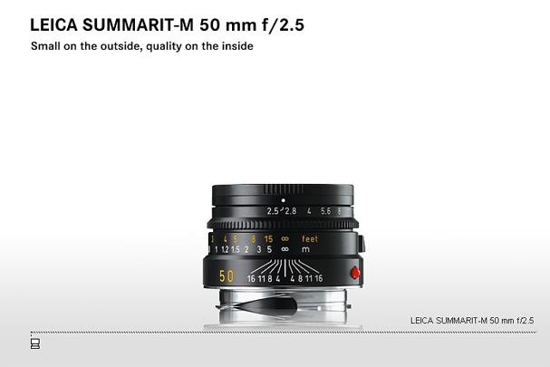 Купить -  LEICA SUMMARIT-M 50 mm f/2.5