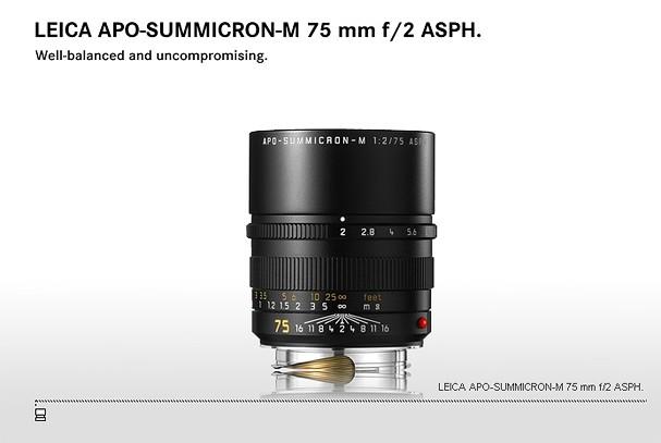 Купить -  LEICA APO-SUMMICRON-M 75 mm f/2 ASPH.
