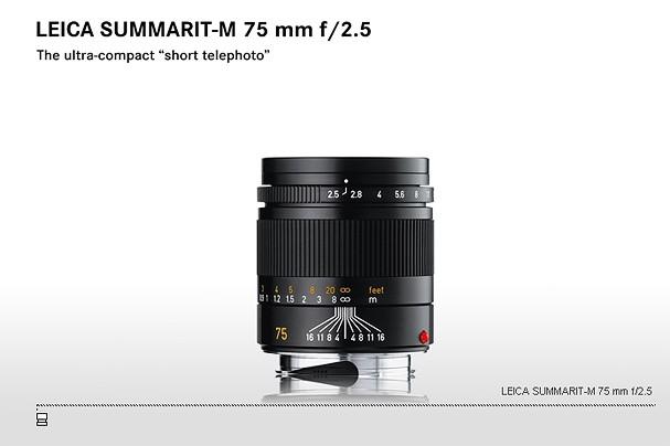 Купить -  LEICA SUMMARIT-M 75 mm f/2.5
