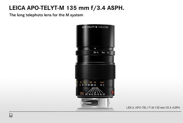 Купить -  LEICA APO-TELYT-M 135 mm f/3.4 ASPH.