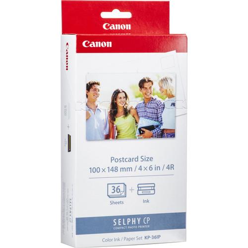 Купить -  Комплект расходных материалов Canon KP-36IP 36 шт 10х15 SELPHY CP series