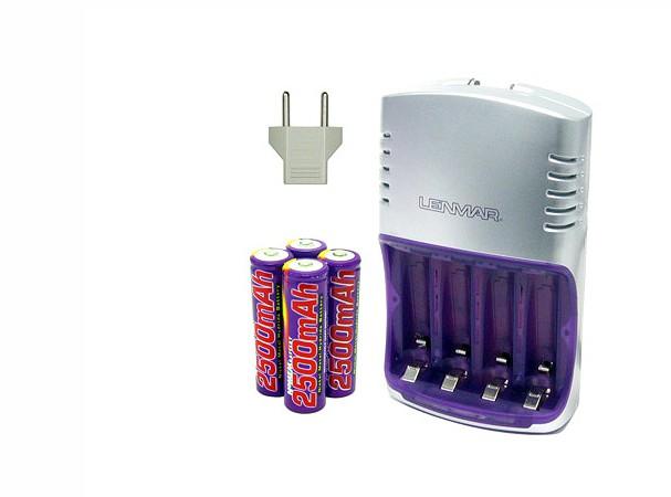 Купить -  Зарядное устройство Lenmar PRO712 (90мин)+ 4 AA 2500mAh NiMH