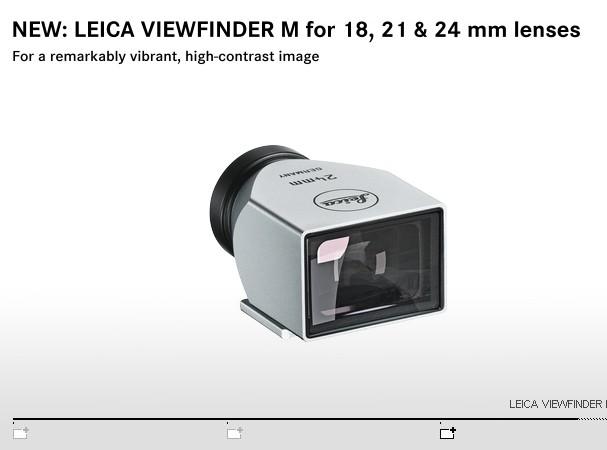 Купить -  LEICA видоискатель для оптики 21 мм