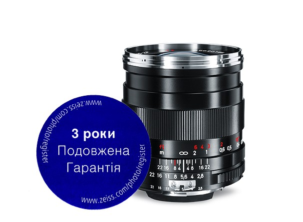 Купить -  Carl Zeiss Distagon T* 2,8/25 ZF.2 - объектив с байонетом Nikon + светофильтр Carl Zeiss T* UV Filter 58 mm в подарок!!!