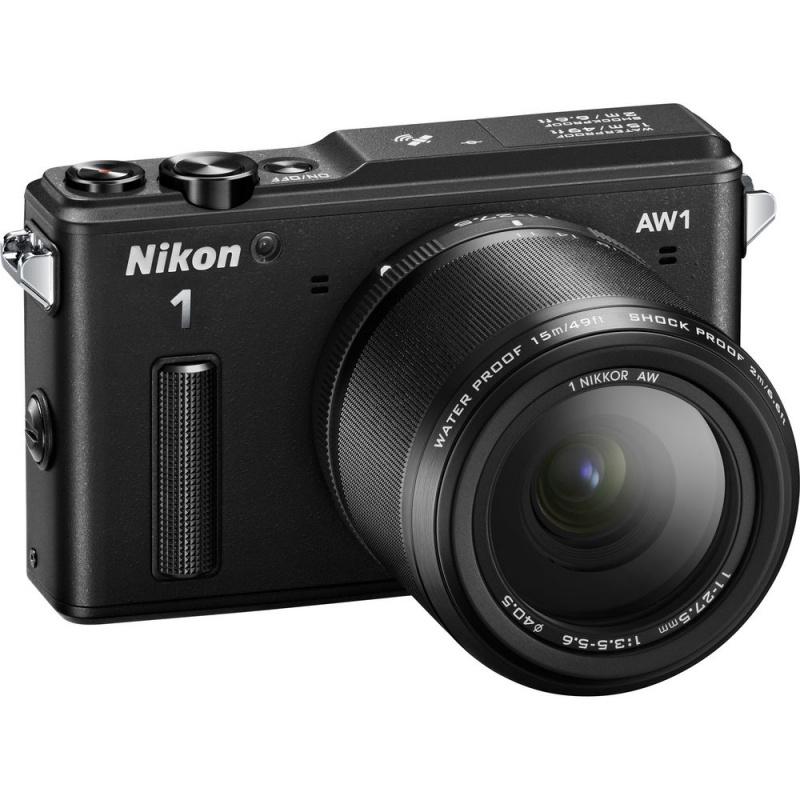 Купить - Nikon Nikon 1 AW1 + AW 11-27.5mm Black  + Подарочный сертификат на 1000 гривен !!!