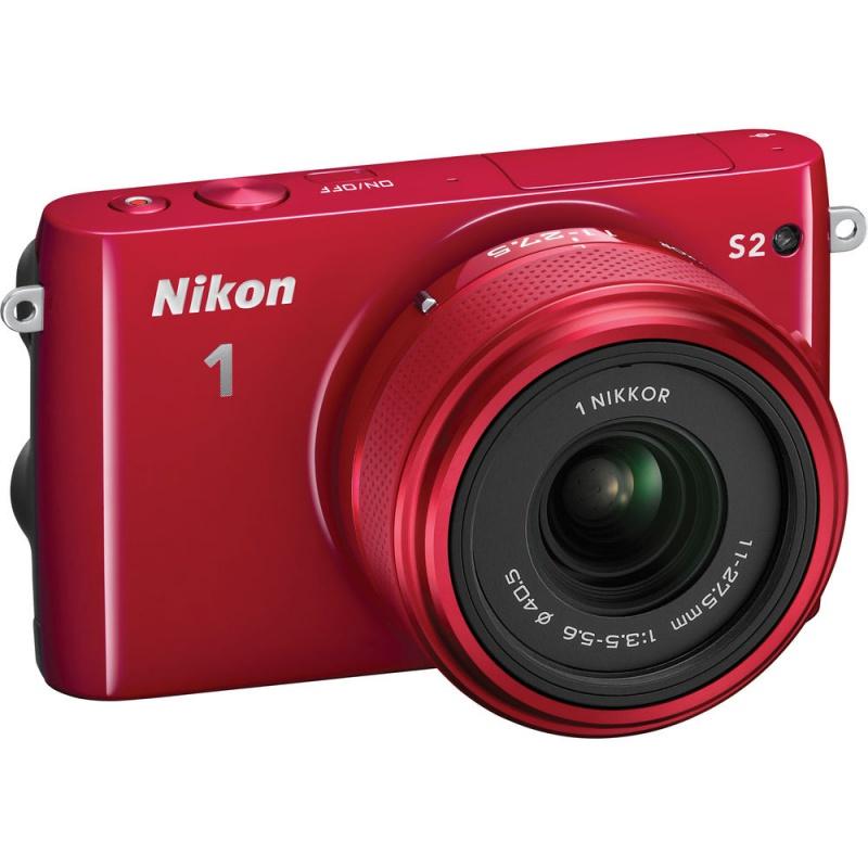 Купить - Nikon Nikon 1 S2 kit (11-27.5mm) Red - В подарок карта памяти 16 Gb !!!