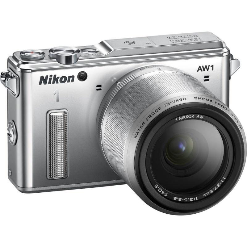 Купить - Nikon Nikon 1 AW1 + AW 11-27.5mm Silver - Подарочный сертификат на 1000 гривен !!!